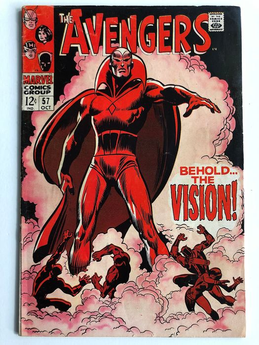 The Avengers #57 - 1st Appearance Of The Vision - Mid Grade - Key Book!!!! - Softcover - Erstausgabe - (1968)