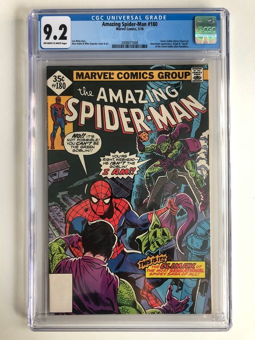 The Amazing Spider-Man #180 - Green Goblin & Silvermane Appearance - Origin & Death Of Green Goblin - CGC Graded 9.2 - Very High Grade!!! - Softcover - Erstausgabe - (1978)