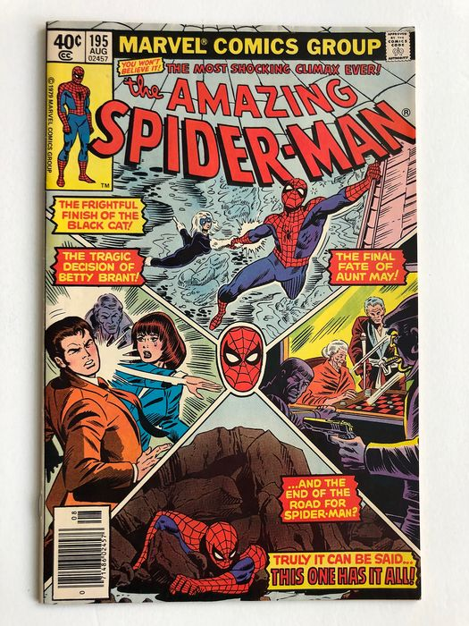 The Amazing Spider-Man #195 - 2nd Appearance & Origin Of The Black Cat - Very High Grade!!! - Key Book - Softcover - Erstausgabe - (1979)