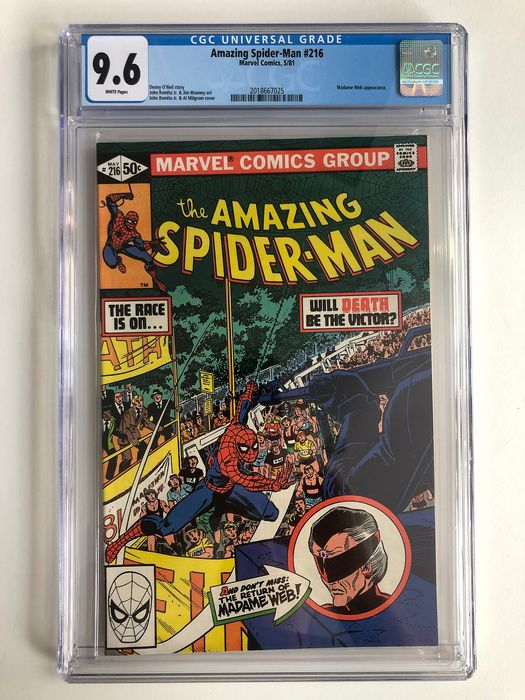 The Amazing Spider-Man #216 - Madam Web Appearance - CGC Graded 9.6 - Extremely High Grade!!! - Softcover - Erstausgabe - (1981)