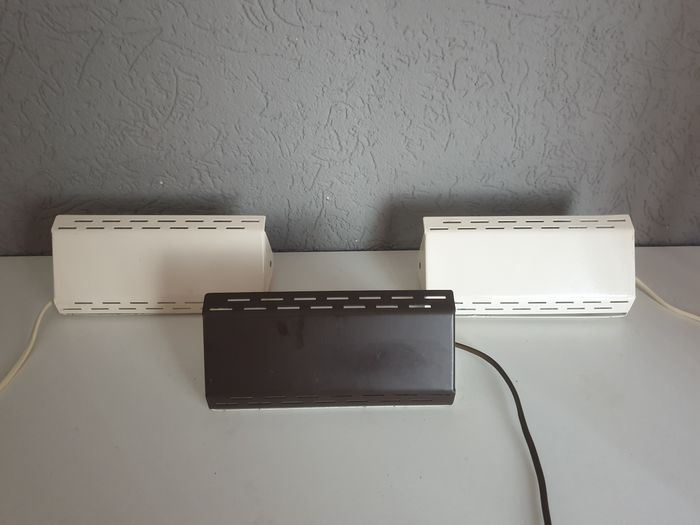 Massive - Three beautiful vintage design bed/Wall Lights