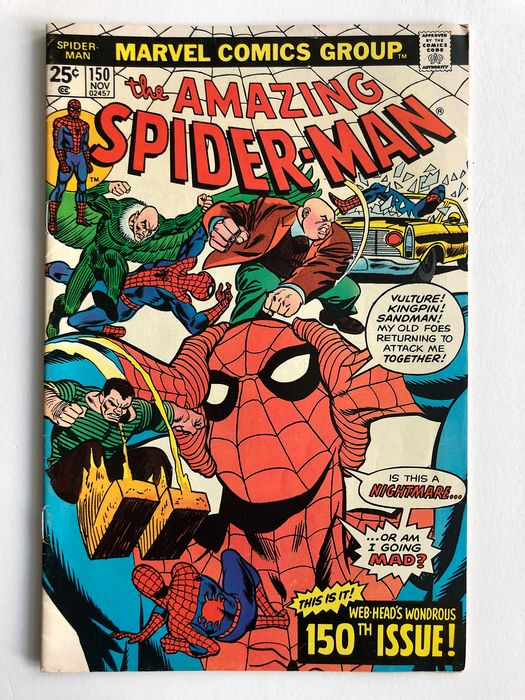 The Amazing Spider-Man #150 - Dr Curt Connors, Professor Spence Smythe, Spider-Slayer Appearance - Higher Grade!!! - Softcover - Erstausgabe - (1976)