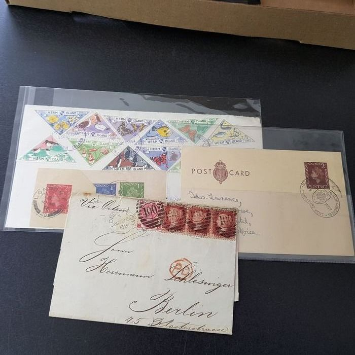 Grande Bretagne 1855/1865 - Some postal order pieces