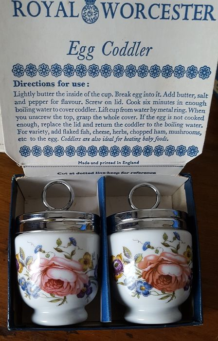 Royal Worcester - Egg Cooker - Egg Coddler (2) - Porcelain