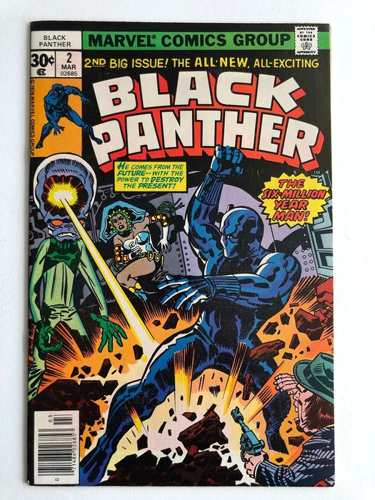 The Black Panther #2 - The Six Million Year Man! - Very High Grade!!! - Key Book - Softcover - Erstausgabe - (1977)