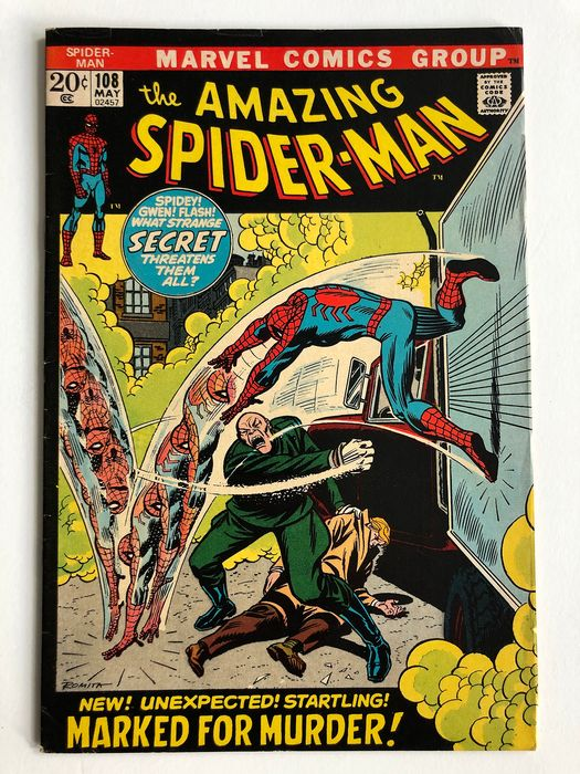 The Amazing Spider-Man #108 - 1st Appearance Of Sha Shan - Higher Grade!!! - Softcover - Erstausgabe - (1972)