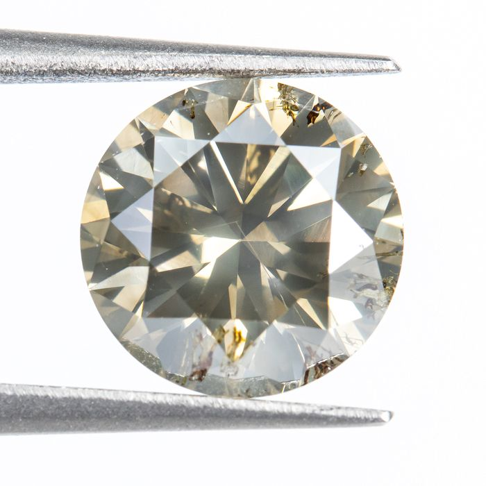 Diamond - 1.51 ct - Natural Fancy Brown  - SI2  *NO RESERVE*