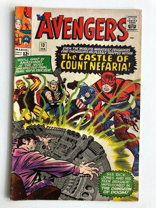 The Avengers #13 - 1st Appearance Of Count Nefaria - Fantastic Four Appearance - Higher Grade!! - Softcover - First edition - (1965)