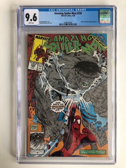 The Amazing Spider-Man #328 - Hulk Appearance Last McFarlane Issue - Classic Cover! - CGC Graded 9.6 - Extremely High Grade!!! - Softcover - Erstausgabe - (1990)