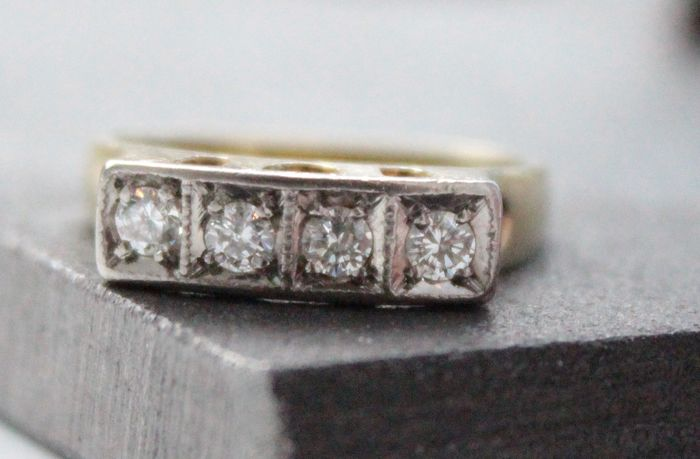 14 carats Or - Bague Diamant