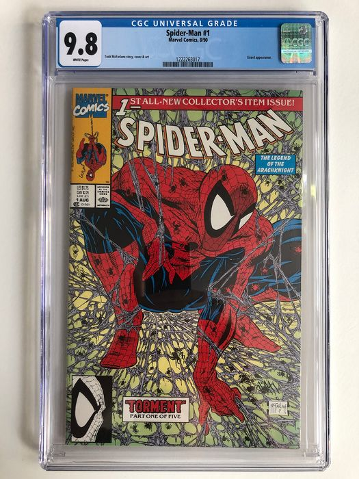 Spider-Man #1 - Regular Edition - CGC 9.8 graded!!! - Extremely High Grade!!! - Softcover - Erstausgabe - (1990)