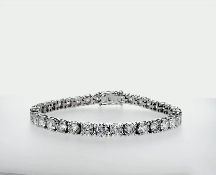 14 kt. White gold - Bracelet 18.00 ct Diamond - D-E/SI