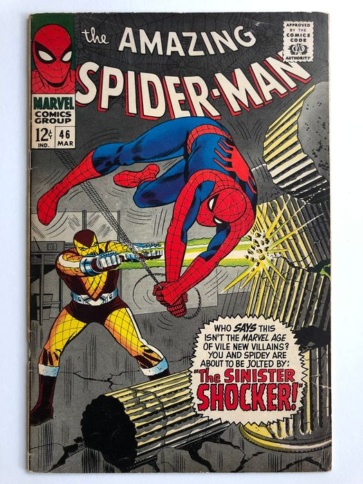 The Amazing Spider-Man #46 - Origin & 1st Appearance Of The Shocker - Mid Grade!!! - Key Book!! - Softcover - Erstausgabe - (1967)