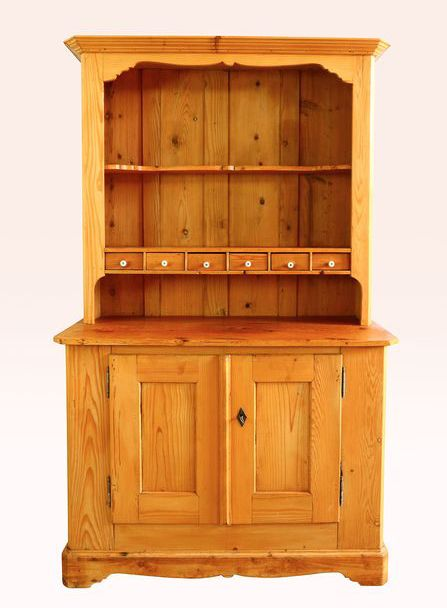 A brocante kitchen cabinet