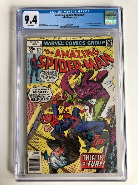 The Amazing Spider-Man #179 - Green Goblin & Stegron Appearance - CGC Graded 9.4 - Very High Grade!!! - Softcover - Erstausgabe - (1978)