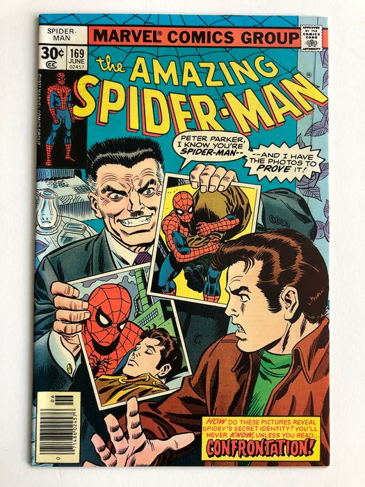 The Amazing Spider-Man #169 - Dr Faustus Appearance & Stan Lee Cameo - Very High Grade!!! - Softcover - Erstausgabe - (1977)