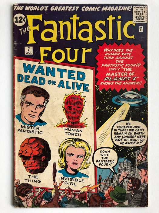 The Fantastic Four #7 - 1st Appearance Of Kurrgo - Mid Grade - Softcover - Erstausgabe - (1962)