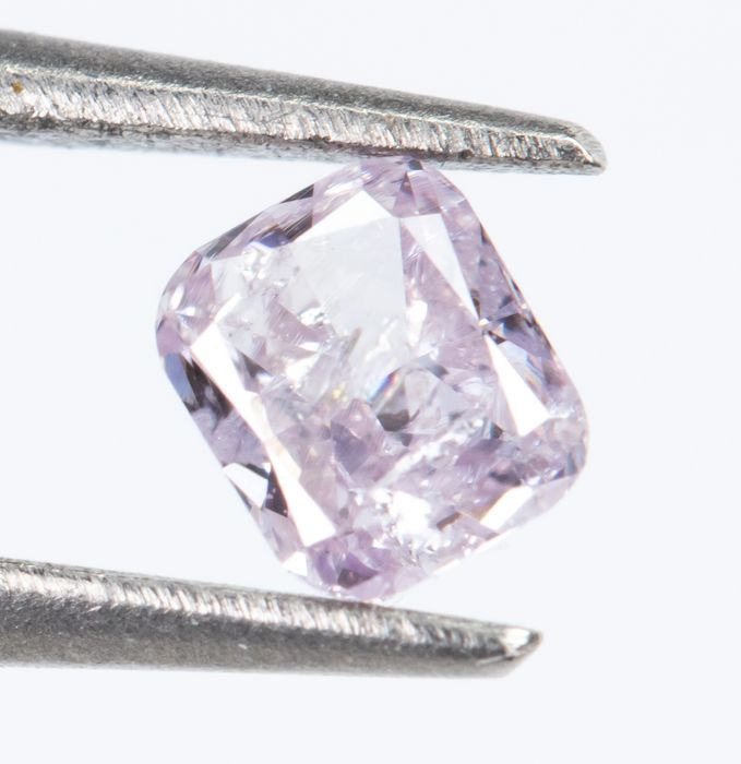 Diamante - 0.10 ct - Fancy Light Purpurish Pink - I2  *NO RESERVE*