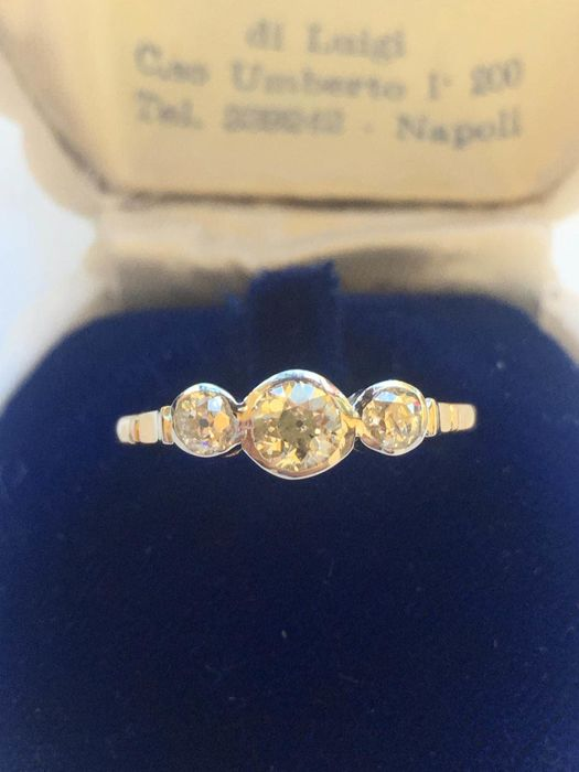 14 kt. Silver, Yellow gold - Ring