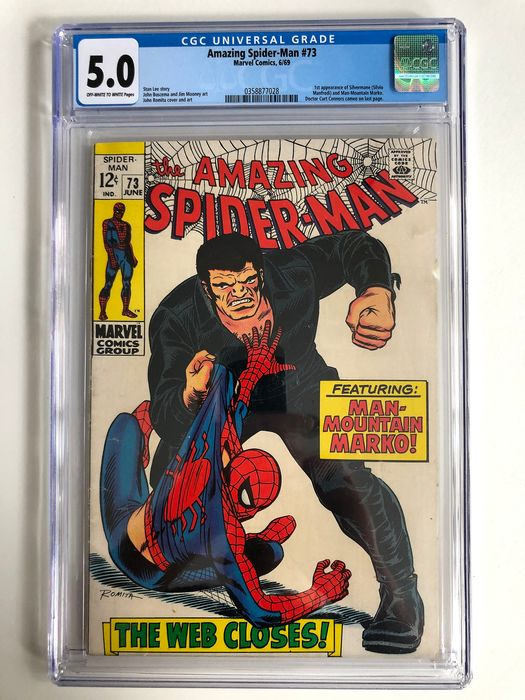 The Amazing Spider-Man #73 - 1st Appearance Of Silverman & Man-Mountain Marko - CGC Graded 5.0 - Mid Grade!!! - Softcover - Erstausgabe - (1969)