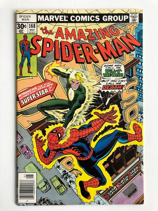 The Amazing Spider-Man #168 - 2nd Appearance Of Will O' The Wisp -  - Very High Grade!!! - Softcover - Erstausgabe - (1977)