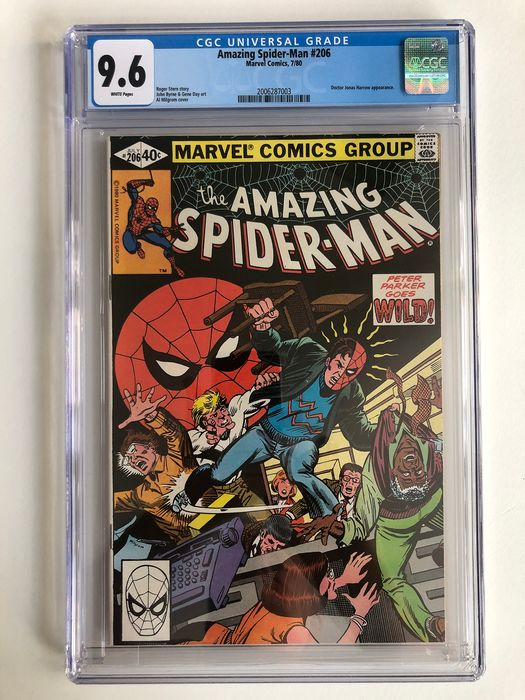 The Amazing Spider-Man #206 - Doctor Jones Harrow Appearance - CGC Graded 9.6 - Extremely High Grade!!! - Softcover - Erstausgabe - (1980)