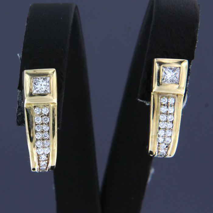 14 quilates Oro amarillo - Pendientes - 0.50 ct Diamante