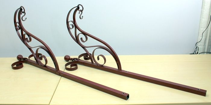 Pair of antique wall fixtures (2) - Iron (cast/wrought)