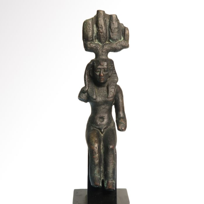 Ancient Egyptian Bronze  Seated Figure of Harsomtous