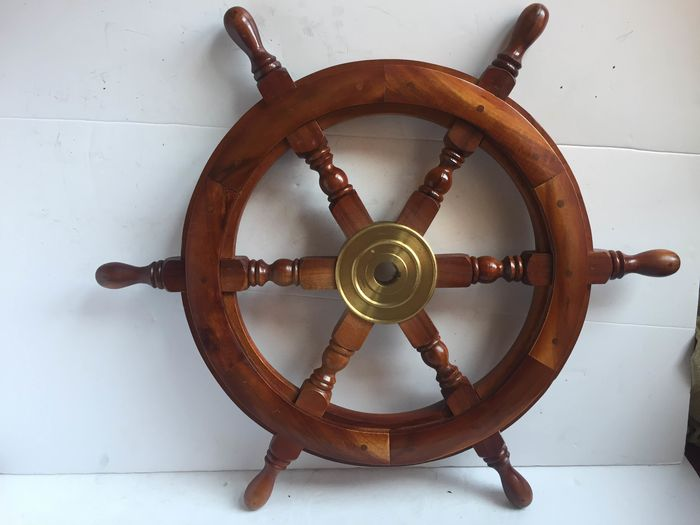 ornamental ships wheel (1) - Wood