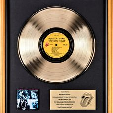 Rolling Stones - Emotional Rescue - Presented to Keith Richards - Officieel in-House award - 2002