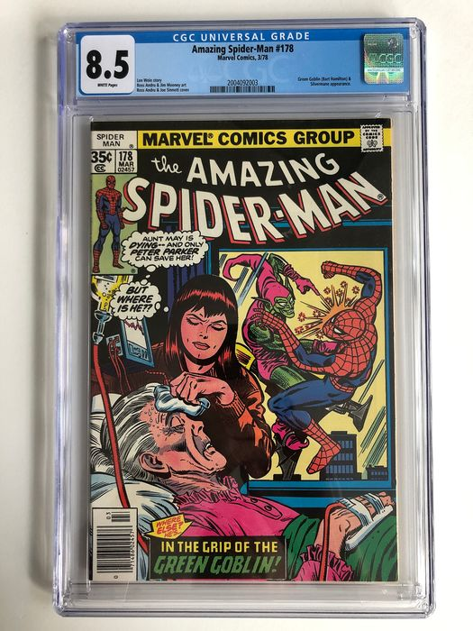 The Amazing Spider-Man #178 - Green Goblin & Silvermane Appearance - CGC Graded 8.5 - High Grade!!! - Softcover - Erstausgabe - (1978)
