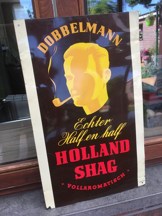 Reclamebord - DOBBELMANN Tabak - ca. 1940- tin sign