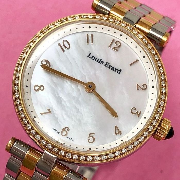Louis Erard - 66 Diamonds for 0.33 ct Romance Collection Mother of Pearl Dial Swiss Made - 11810SB44.BMA27 - Femme - Brand New