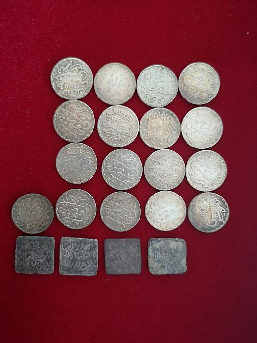 Morocco - Lot ½ Dirhams AH1299 (1882) + Dirhams (total 21 coins)  - Silver