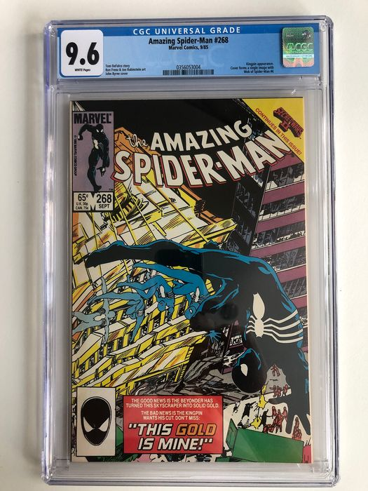 The Amazing Spider-Man #268 - Kingpin Appearance - CGC Graded 9.6 - Extremely High Grade!!! - Softcover - Erstausgabe - (1985)