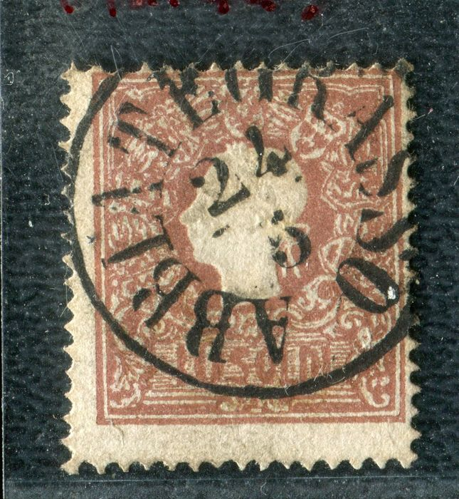 "Lombardy–Venetia 1859 - 10 soldi ""head"" 2nd type Abbiategrasso 24/5/59 cancellation - Sassone N. 31"
