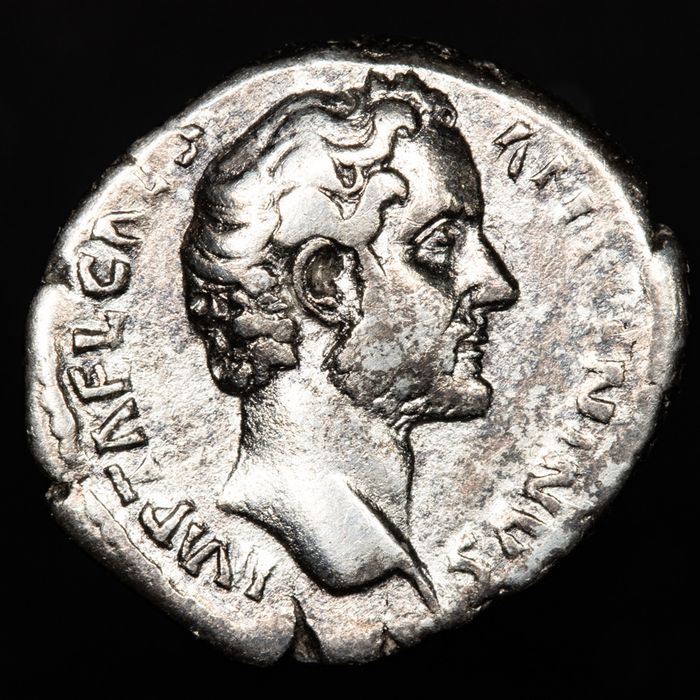 Roman Empire - Denarius - Antoninus Pius as Caesar (138-161 A.D.) Rome mint 138 - TRIB POT COS, Diana holding arrow. - Silver
