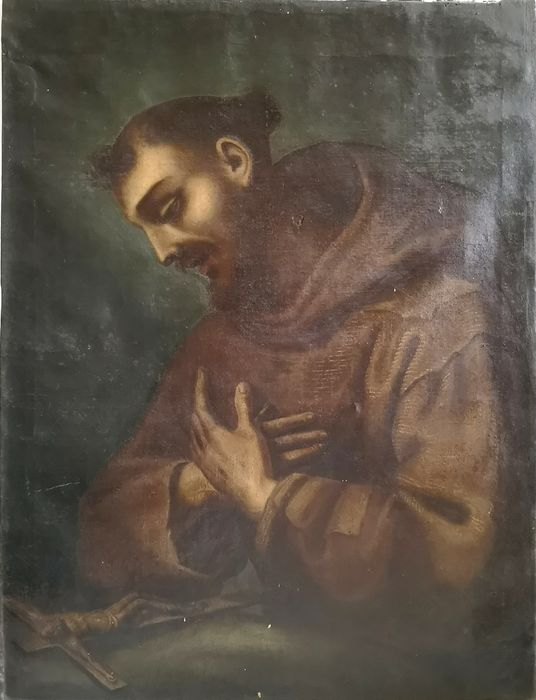 """St. Francis"" Painting - oil painting on canvas - 18th century"