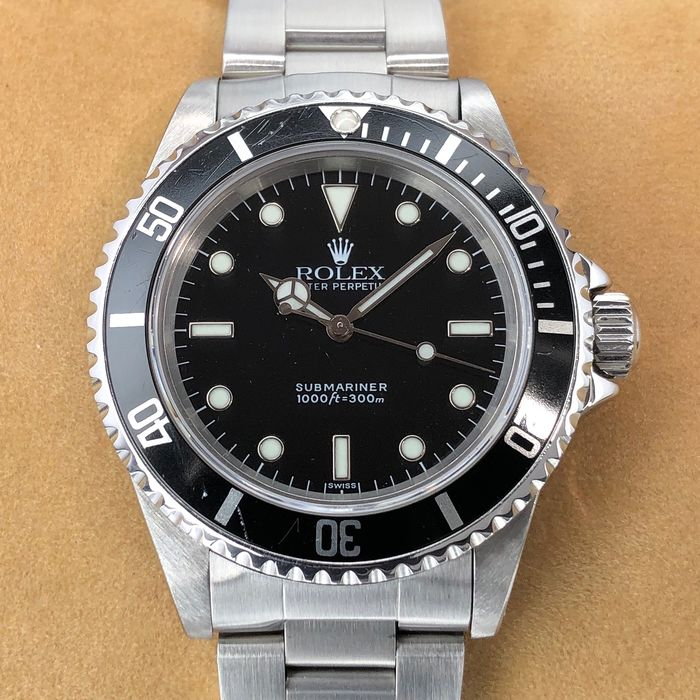"Rolex - Submariner No Date ""Swiss Only"" Dial - 14060 - Herre - 1990-1999"