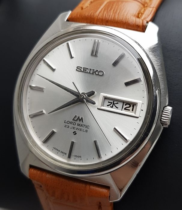 Seiko - 'NO RESERVE PRICE' Lord Matic Automatic SLIM Vintage Men - 5606-7000 - Homme - 1970-1979