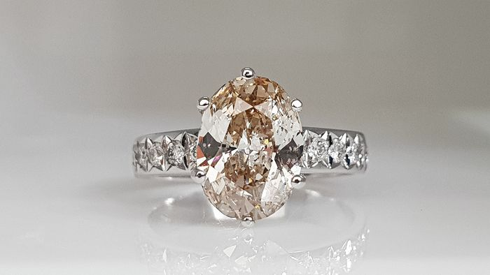 14 kt. Gold - Ring - Clarity enhanced 2.88 ct Diamond