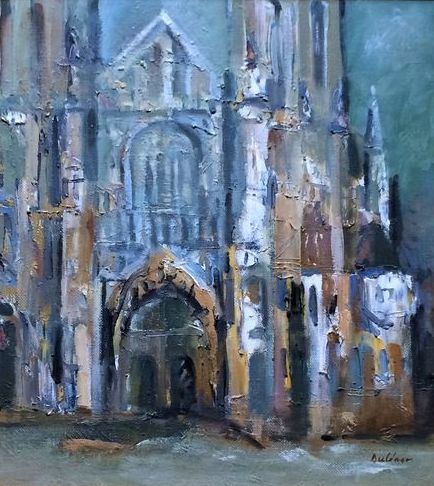 Eduard Duldner (1960-) - The Cathedral  Antwerp
