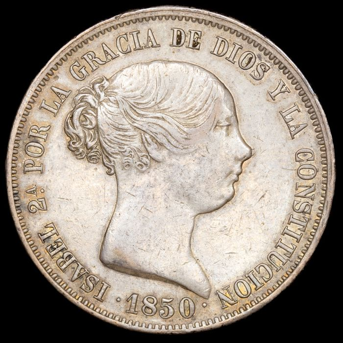 Spain - 20 Reales  - Isabel II (1833 - 1868) - Madrid - 1850 C.L. - Silver