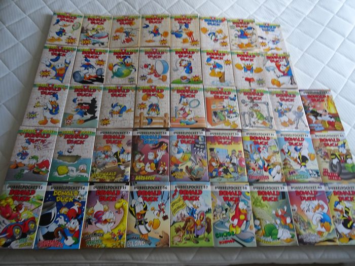 Donald Duck - Donald Duck dubbelpockets 1 t/m 43 (goed/zeer goed, 17 delen in seal) - Trade Paperback - First edition - (1996/2014)