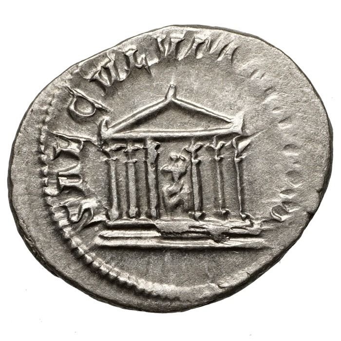 Roman Empire - AR Antoninian, Philippus I. Arabs (244-249) Roma-TEMPEL