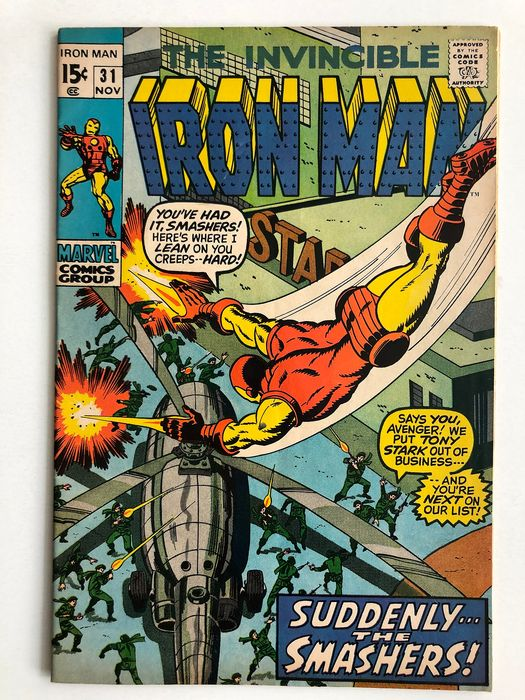 Iron Man #31 - The Smashers Appearance - High Grade!!! - Softcover - First edition - (1970)