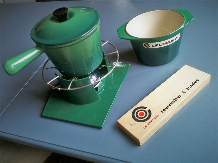 Le Creuset - Table set, fondue set - Modern - Enamel, steel