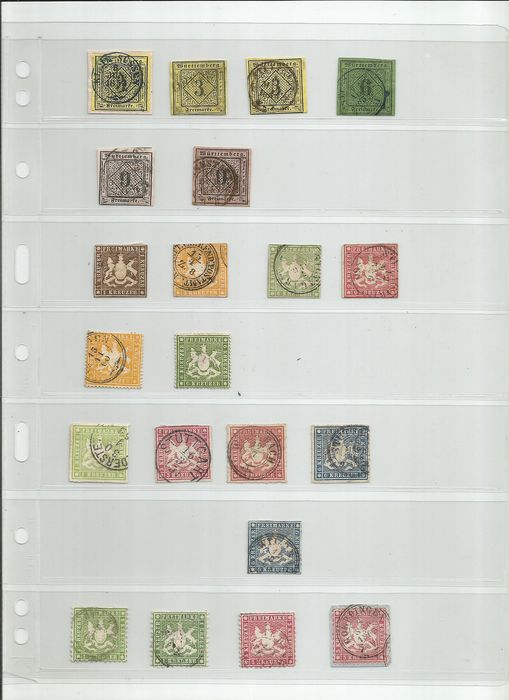 Württemberg 1851/1920 - small selection