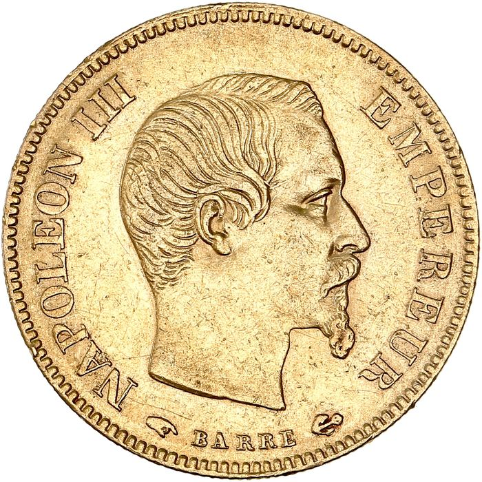 France - 10 Francs  1856-A Napoléon III - Gold
